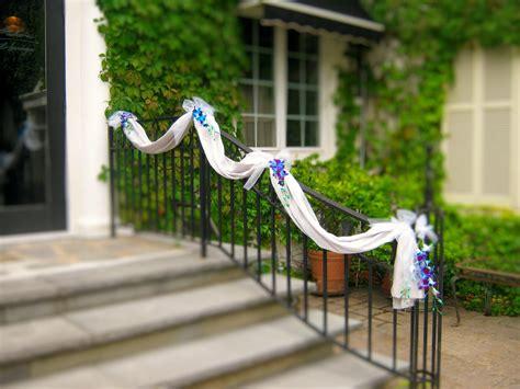 simple banister decoration for entrance fantastic