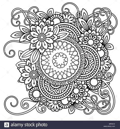 black and white coloring pages coloring page with flowers pattern black and white
