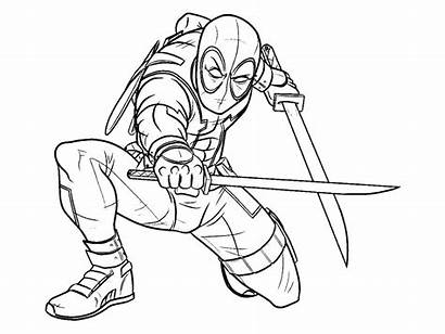 Deadpool Coloring Pages Printable Adults Ecolorings Info