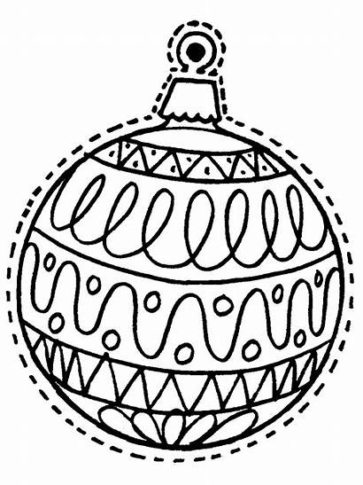 Coloring Christmas Ornament Ornaments Printable Pages Sheets