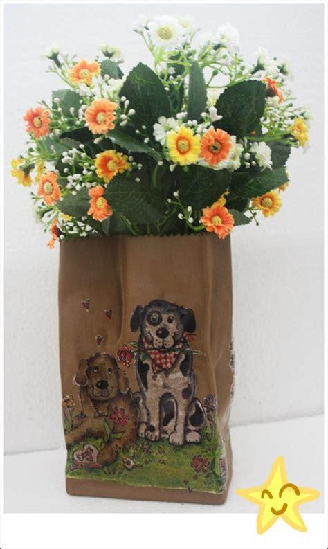 PANTIP.COM : R9525604 Diy by น้องปลาดาว #82 : กระถางเซรามิค กับลายเหล่า Doggy ในสวนดอกไม้ ...