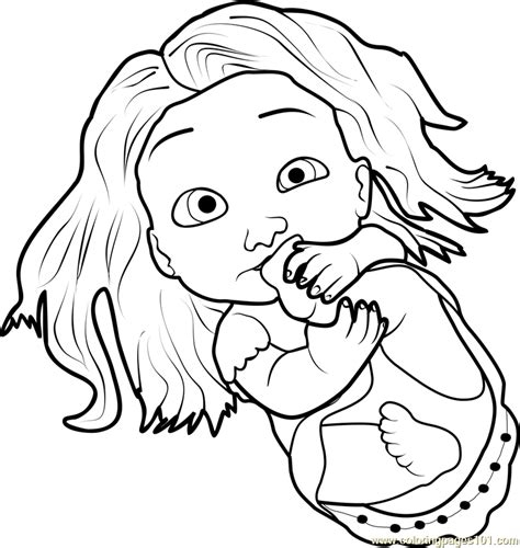 baby rapunzel coloring page  tangled coloring pages
