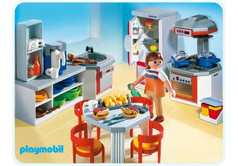 Cuisine Playmobil - kitchen with dinnette set 4283 a playmobil