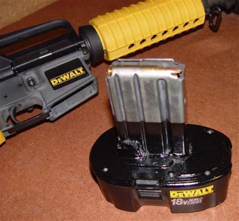 ak nail gun dewalt edition m 16 is power tooltastic geekologie