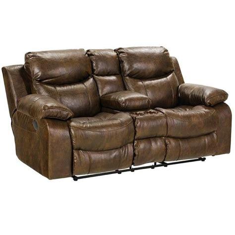 catnapper furniture catnapper leather reclining console loveseat in