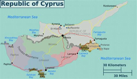 maps  cyprus detailed map  cyprus  english