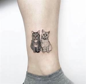 Tatouage Minimaliste : tatouage minimaliste chat acidcruetattoo ~ Melissatoandfro.com Idées de Décoration