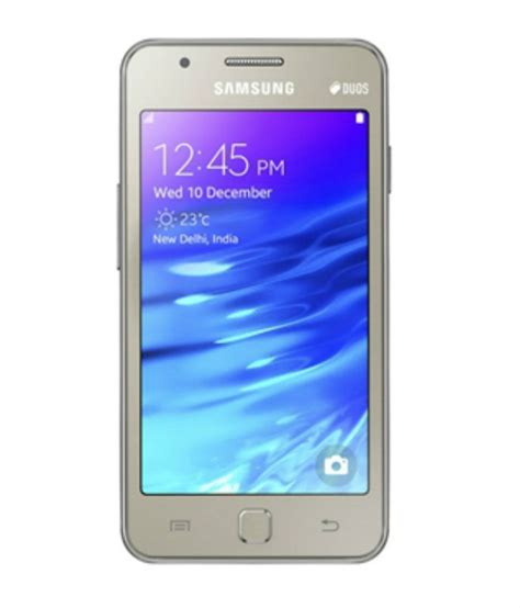 samsung tizen z1 4gb tizen os gold mobile phones at low prices snapdeal india