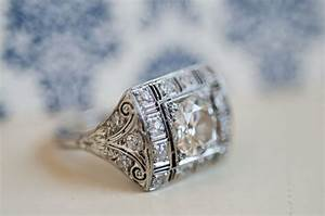 vintage inspired engagement ring onewedcom With vintage inspired wedding ring