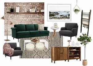 Cozy, Boho, Living, Room, Style, Board