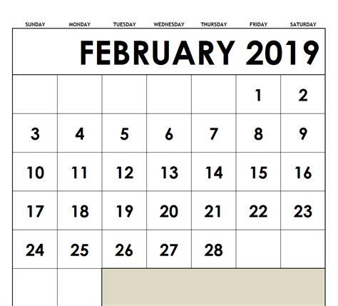 february calendar template archives printable blank