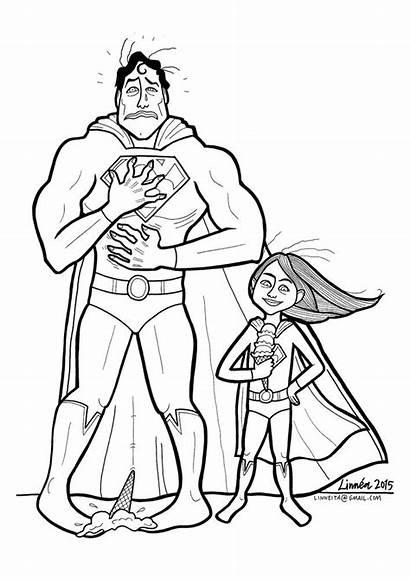 Coloring Mom Cartoon Superheroes Super Superhero Boys