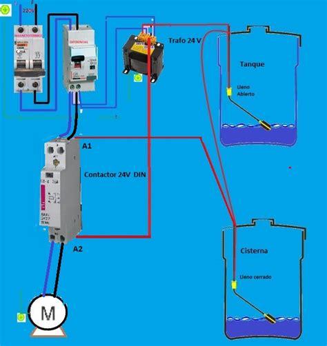 circuito electrico de tanque cisterna diagrama para instalar una bomba de agua domestica