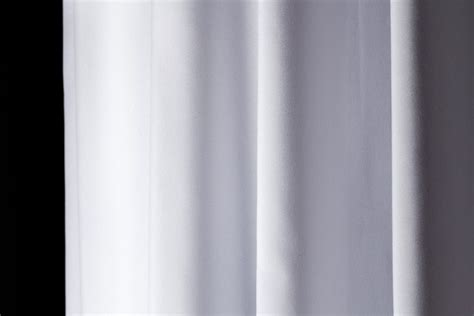 polyester shower curtain white h210 x l180 cm
