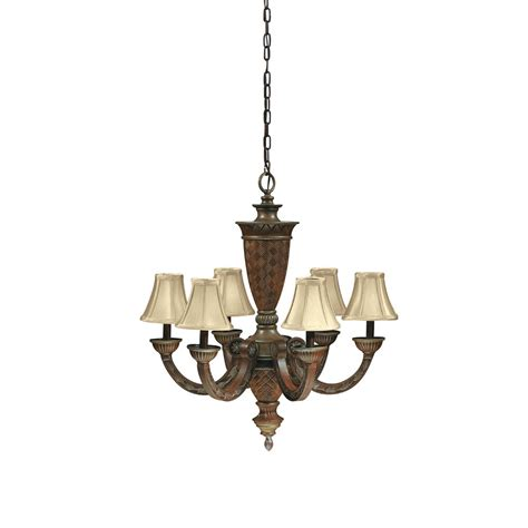 6 Light Chandelier With Shades by Antque Silver Leaf 6 Light Chandelier With Shades Ebay