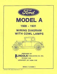 1928 Ford Model A Wiring by 1928 31 Ford Model A Wiring Diagrams With Cowl Ls Ebay