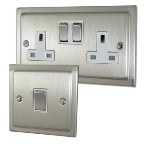 brushed nickel light switch trimline brushed nickel sockets and switches