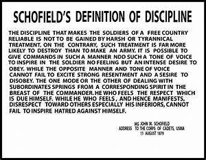 MC - 0000-0000-00053, SCHOFIELD'S DEFINITION OF DISCIPLINE ...