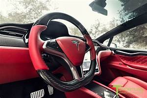 This Tesla Model X Has A Bespoke Bentley Red Leather Interior, Costs $180,000 - autoevolution