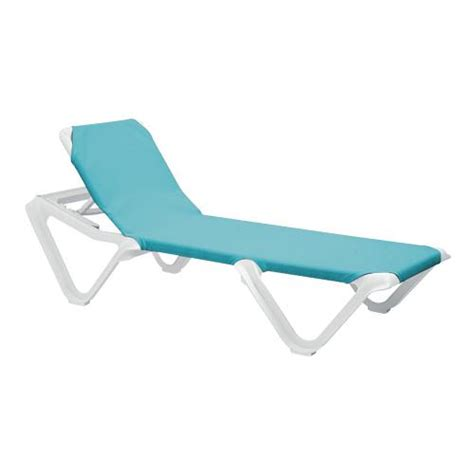 chaise turquoise grosfillex us101241 nautical turquoise white chaise lounge