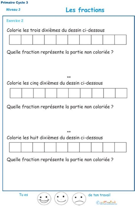 exercices cycle  maths  imprimer