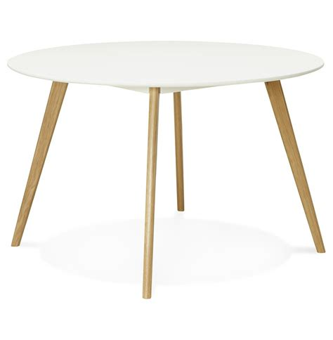 table blanche de cuisine table de cuisine ronde blanche style scandinave
