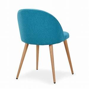 Tabouret Bleu Canard : chaise scandinave bleu canard fifthy lot de 4 pas cher ~ Teatrodelosmanantiales.com Idées de Décoration