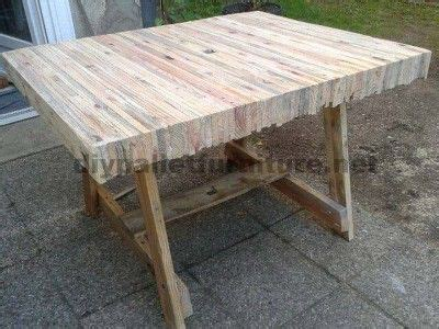table built gluing pallet planks pallet furniture