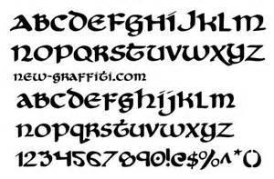 Celtic Font Styles Alphabet