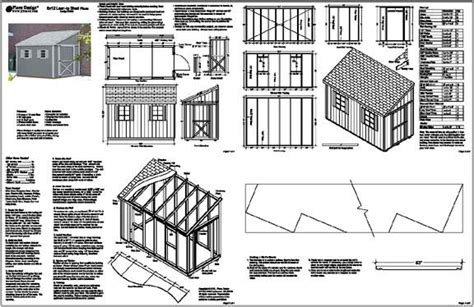 8x8 slant roof shed plans lean to shed topic lean to shed plans 8x16