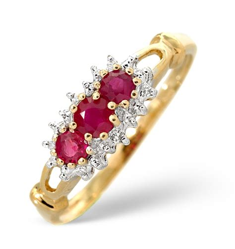 ruby 0 34ct and 9k gold ring item e5380
