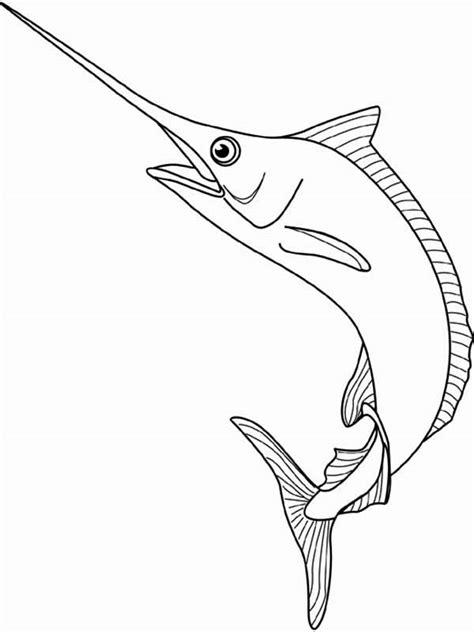sword disegni da colorare marlin the swordfish coloring page color