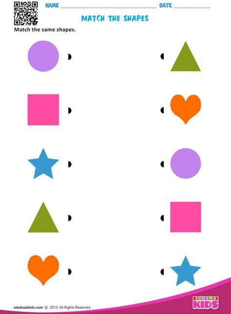 match  shapes shape activities preschool kids
