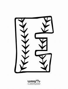 baseball alphabet letter e woo jr kids activities With baseball alphabet letters