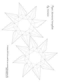 net small stellated dodecahedron pattern geometric