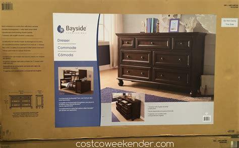 pulaski cambridge sliding door cabinet costco dresser costco bayside furnishings 7drawer dresser