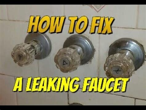how do i fix a leaky tub faucet how to fix a leaking bathtub faucet