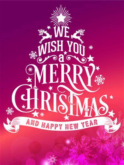 typographic style christmas card birthday greeting