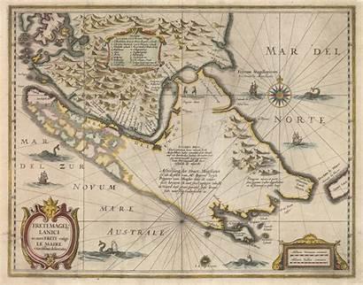 Map Magellan Strait Sea Maps Cartography Hondius