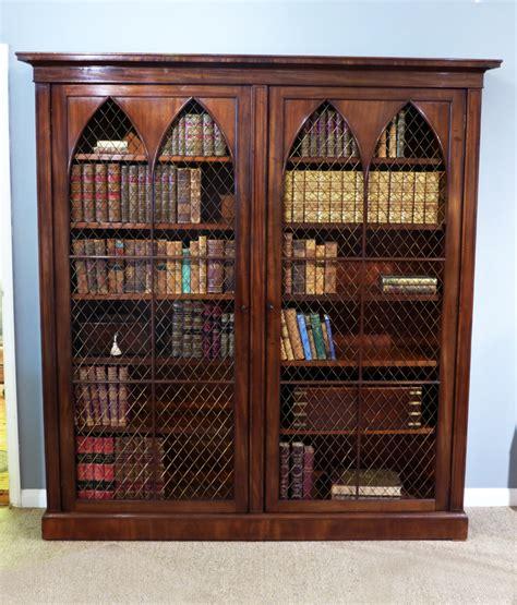 Gothic Revival Bookcase, Large Antique Bookcase, 19th