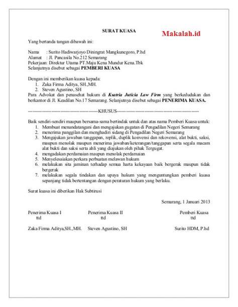 Tidak diperlukan pengampuan untuk kasus ini. 3 Contoh Surat Kuasa Khusus Pengambilan BPKB Motor Dan Mobil