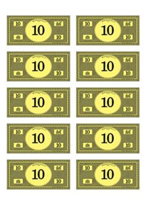 monopoly money printable  printable monopoly money