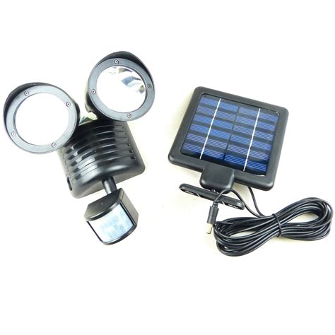 22 led solar powered motion sensor pir security light