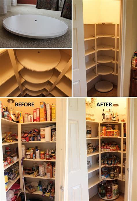 DIY Lazy Susan Pantry Design   iCreatived