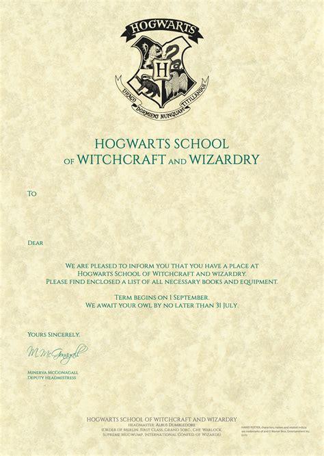 hogwarts acceptance letter brittney taylor