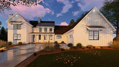 modern farmhouse plan  square feet  bedrooms  bathrooms