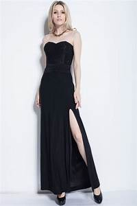 She Made Me Size Chart Black Strapless Evening Gown Prom Dress