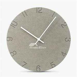 Unique, Wall, Clocks, 11, Inch, Analog, Round, Cheap, Gray, Red, Quiet
