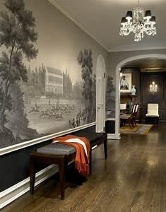 1001 tapeten flur ideen zum erstaunen und begeistern With balkon teppich mit tapete flur