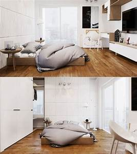 idee deco chambre blanche bois With chambre blanche et bois